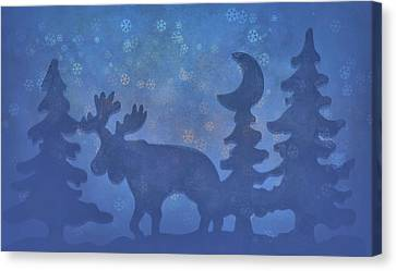 Christmas In The Forest Canvas Print by Dan Sproul