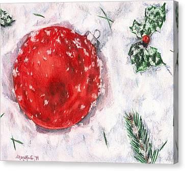 Christmas In The Snow Canvas Print by Shana Rowe Jackson