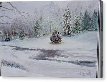 Christmas In The Woods Canvas Print