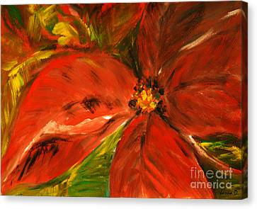 Canvas Print featuring the painting Christmas Star by Jasna Dragun
