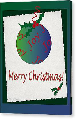 Canvas Print featuring the photograph Christmas Joy by Terri Harper
