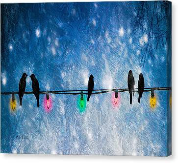 Storm Canvas Print - Christmas Lights by Bob Orsillo