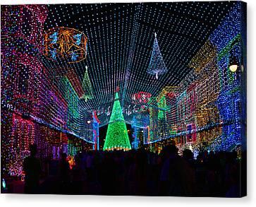 Hollywood Studios Canvas Print - Christmas Lights by David Lee Thompson