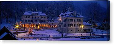 Christmas Lights, Hohen-schwangau Canvas Print by Panoramic Images