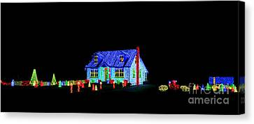 Christmas Lights Canvas Print by Olivier Le Queinec