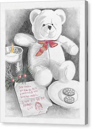 Christmas List Canvas Print