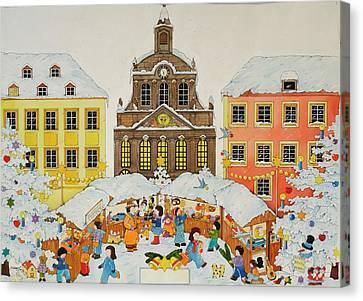 Christmas Market Canvas Print