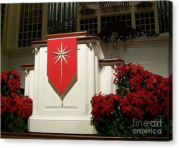 Christmas Message Canvas Print by Laurie Eve Loftin