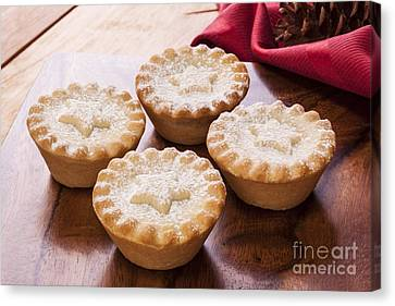 Christmas Mince Pies Canvas Print by Colin and Linda McKie
