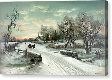 Christmas Morn Canvas Print