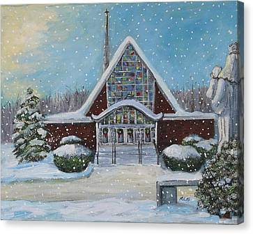 Christmas Morning At Our Lady's Church Canvas Print