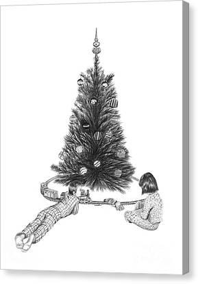 Christmas Morning Play  Canvas Print by Peter Piatt