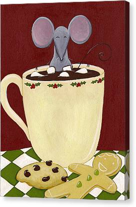 Christmas Mouse Canvas Print by Christy Beckwith