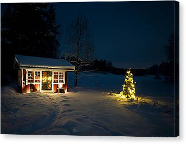 Christmas Night Canvas Print by Torbjorn Swenelius