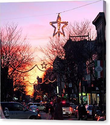 Canvas Print featuring the photograph Christmas On Arthur Avenue by Aurelio Zucco