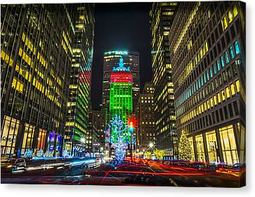 Christmas On Park Avenue Canvas Print by David Morefield