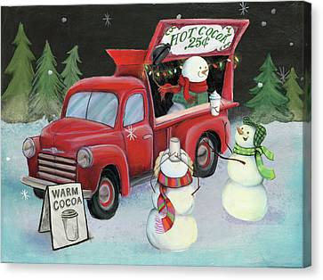 Christmas On Wheels Iv Canvas Print by Mary Urban