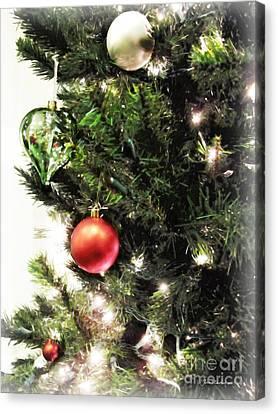 Christmas Ornaments Canvas Print by Joan  Minchak
