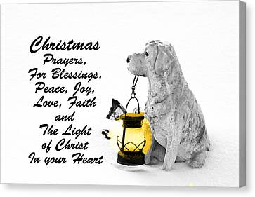 Christmas Prayers Canvas Print by Lorna Rogers Photography