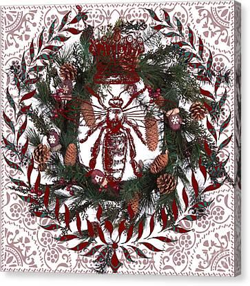 Christmas Queen Bee Canvas Print