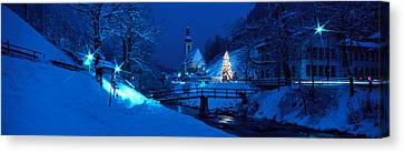 Thaw Canvas Print - Christmas Ramsau Germany by Panoramic Images