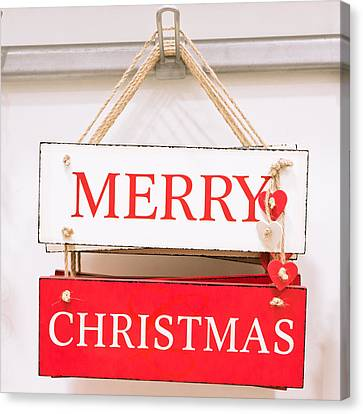 Christmas Sign Canvas Print by Tom Gowanlock
