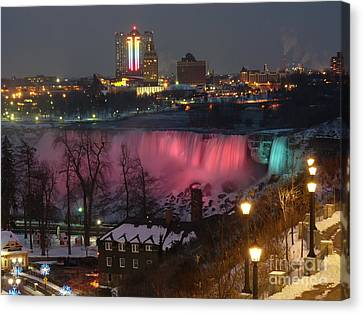 Christmas Spirit At Niagara Falls Canvas Print