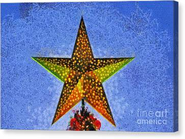 Christmas Star By Dusk Time Canvas Print by George Atsametakis
