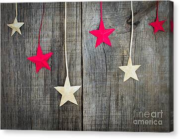 Christmas Star Decoration Canvas Print by Aged Pixel