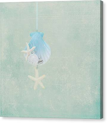 Christmas Starfish Canvas Print by Kim Hojnacki