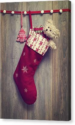 Christmas Stocking Canvas Print by Amanda Elwell