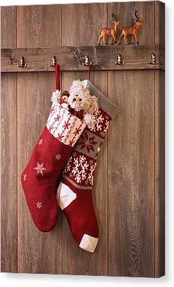 Christmas Stockings Canvas Print by Amanda Elwell
