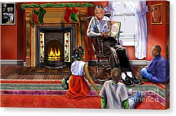 Christmas Story Canvas Print by Reggie Duffie