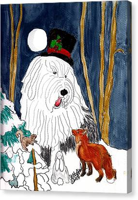 Christmas Story Teller Canvas Print