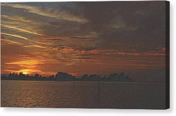 Tropical Sunset Canvas Print - Christmas Sunset 2 by Richard Zentner
