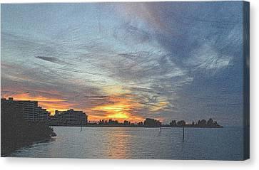 Tropical Sunset Canvas Print - Christmas Sunset 3 by Richard Zentner