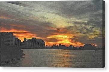 Tropical Sunset Canvas Print - Christmas Sunset 4 by Richard Zentner