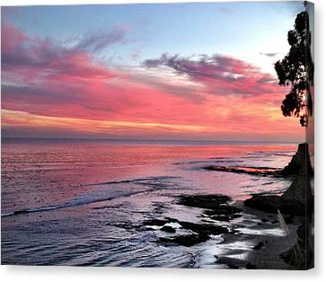 Canvas Print featuring the photograph Christmas Sunset by Lora Lee Chapman