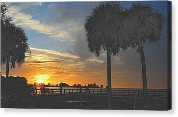 Tropical Sunset Canvas Print - Christmas Sunset by Richard Zentner