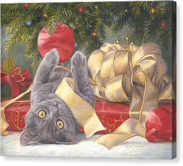 Christmas Surprise Canvas Print by Lucie Bilodeau