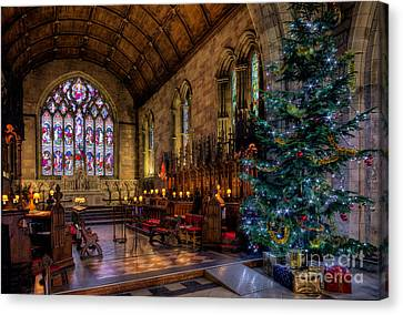 Stained Glass Canvas Print - Christmas Time by Adrian Evans