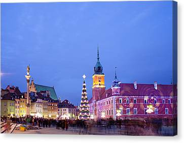 Christmas Time In Warsaw Canvas Print by Artur Bogacki