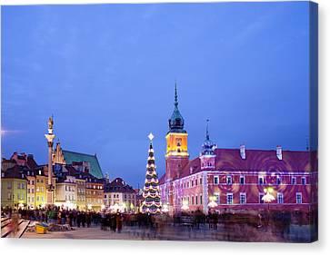 Christmas Time In Warsaw Canvas Print by Artur Bogacki