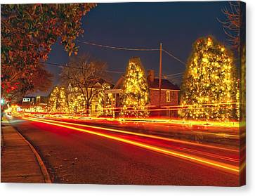 Canvas Print featuring the photograph Christmas Town Usa by Alex Grichenko