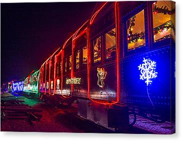 Christmas Train Canvas Print by Garry Gay