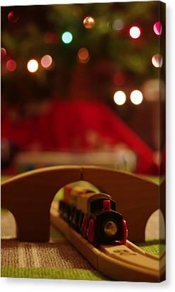 Christmas Train Canvas Print by John Ayo