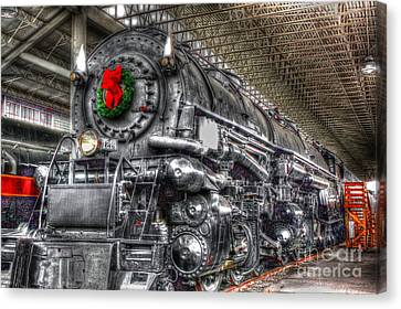 Christmas Train-the Holiday Station Canvas Print