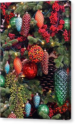 Christmas Tree Cheer Canvas Print by Byron Varvarigos