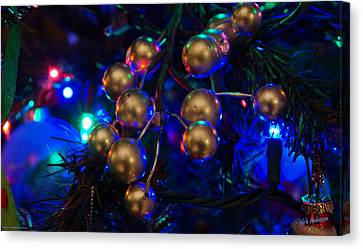 Christmas Tree Detail 1 Canvas Print by Mick Anderson
