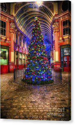 Christmas Tree Leadenhall London II Canvas Print